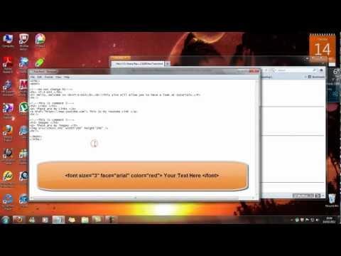 Tutorial 5 - HTML Code - HTML Formatting Codes