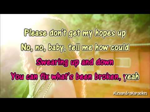 Demi Lovato - Fix a Heart ( Karaoke/Instrumental )