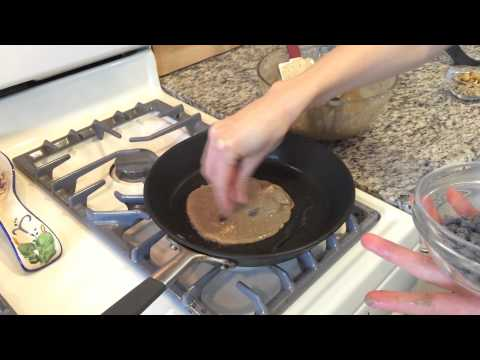 Buckwheat Banana Chocolate Chip Walnut Pancakes – Vegan & Gluten Free Friendly!
