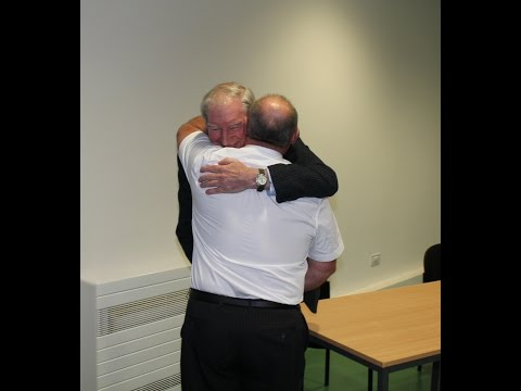 The emotional reunion between a heart attack survivor and people who saved his life.