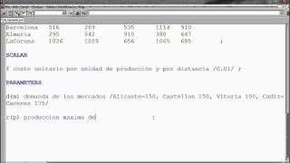 GAMS - Ejemplo de transporte con programación lineal - CAChemE.org