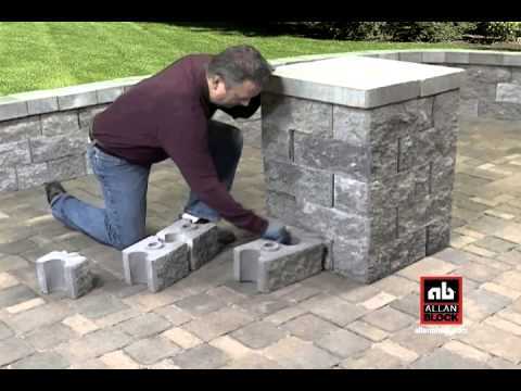 How To Build A Seating Wall Starting At Post Pillar Youtube