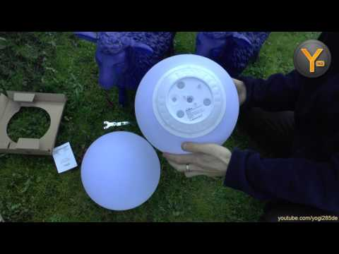 Kurztest: Kealive Solar LED Kugel Lampe für Garten & Outdoor
