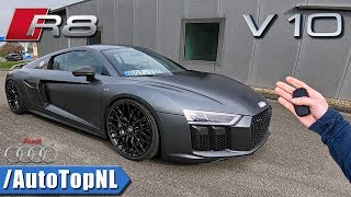 Audi R8 V10 PLUS POV 320km/h REVIEW on AUTOBAHN by AutoTopNL