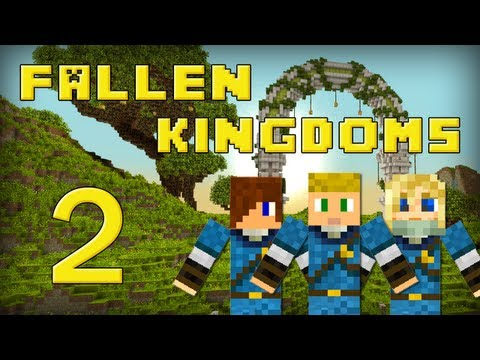 Fallen Kingdoms : Siphano, Leozangdar, Husky | Jour 2 - Minecraft video