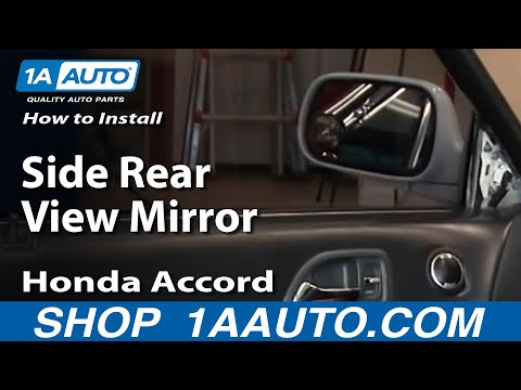 How To Install Replace Side Rear View Mirror Honda Accord 94-97 1AAuto.com