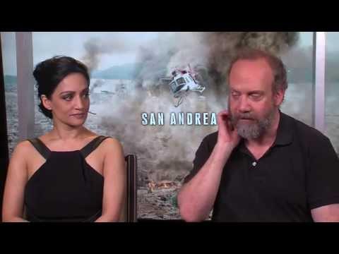 San Andreas: Archie Panjabi & Paul Giamatti Official Movie Interview