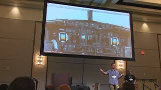 Flightsim Expo 2018 - ATP Flies the PMDG Boeing 737 On Stage from KLAS - KLAX