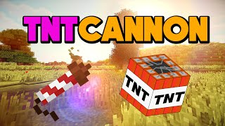 How to make a TNT cannon Minecraft (easiest design) (cannon)