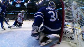 Johansson squeaks game-tying goal past Andersen