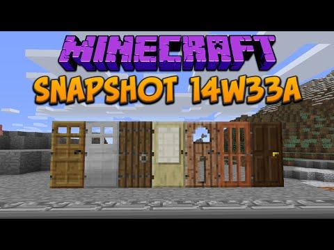 Minecraft 1.8: Snapshot 14w33a New Doors Bugs Bug Fixes
