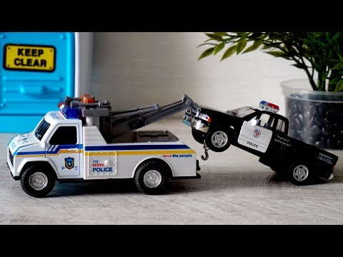 Cars for kids | Polic Tow Truck and Police Car | Toys for kids Tow Truck | vehicles