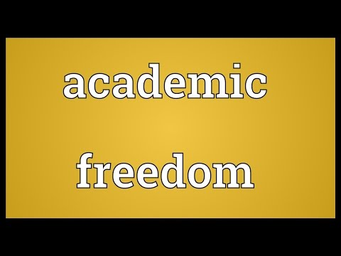 Header of academic freedom