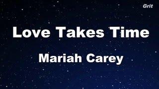 Love Takes Time Mariah Carey Karaoke No Guide Melody Instrumental
