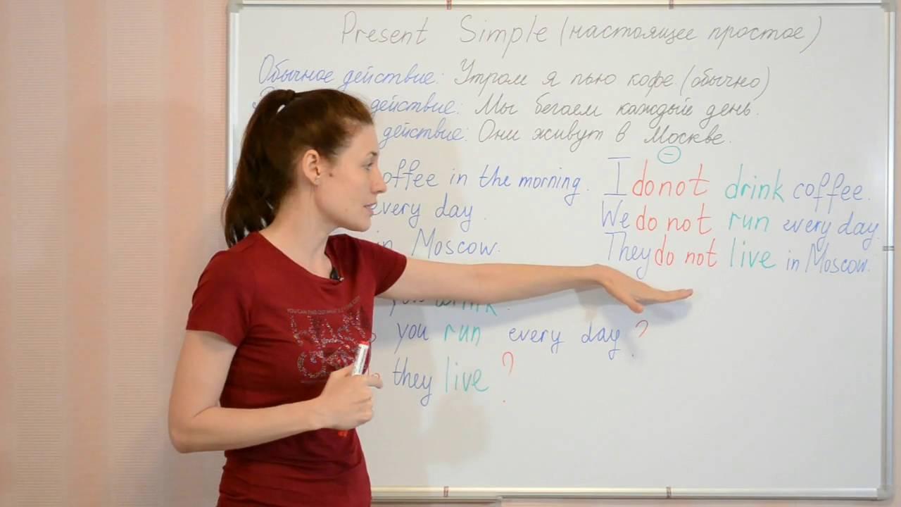 Present Simple. Настоящее простое время. Английская грамматика. Видеоуроки Myefe.