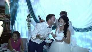 Прикол на свадьбе с тортом и тамадой Свадьба Евгения и Антонины