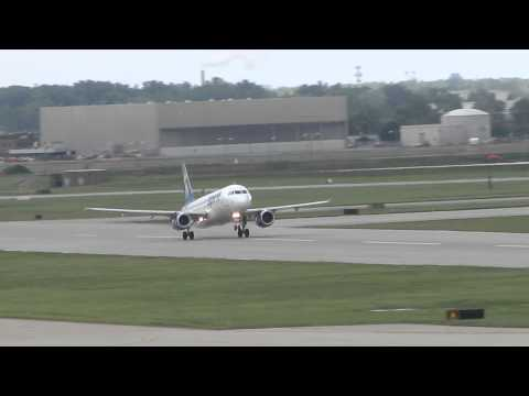 HD   Spirit Airlines Airbus A320 Takeoff   N612NK   Detroit Metro Airport (DTW)