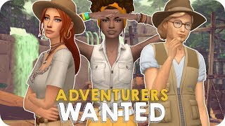ADVENTURERS WANTED | Let's Play Sims 4 Jungle Adventure EP 1 - WE'RE HERE FOR TREASURE