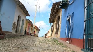 Trinidad Cuba street view and danceing club. documentary