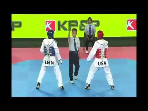 Steven Lopez Vs Aaron Cook - World Taekwondo Gran Prix Astana 2014 video