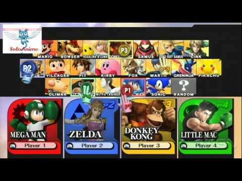 Super Smash Bros 3ds/Wii U Gameplay 2 720p Demostration