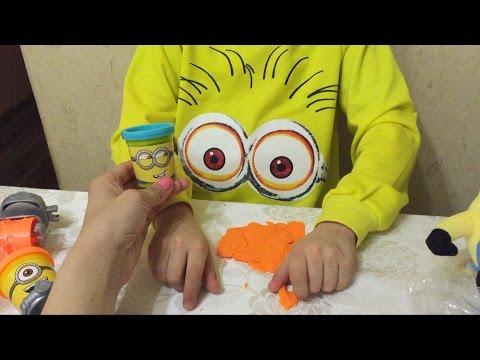Миньоны набор пластилина Распаковка Плейдо Игрушки Minions Play-Doh