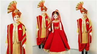 DIY Indian Traditional Bridegroom Male Doll Decoration/DIY Male Doll in Dhoti Kurta Jacket & Stole