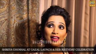 Shreya Ghoshal at her Birthday Party and Ghazal Launch