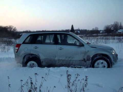 Проверка снегом Suzuki grand Vitara