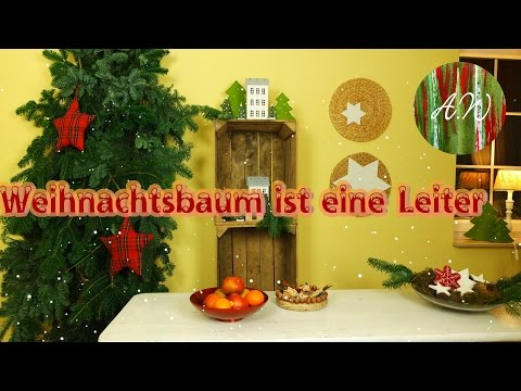 Schrott - Leiter + Tannengrün DIY/ Christmas tree