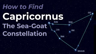 Capricornus the Sea Goat Constellation - Star Pattern, Mythologies, and Celestial Objects