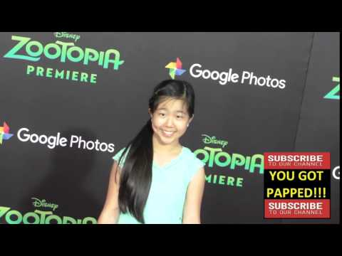 Nina Lu at the Zootopia Premiere at El Capitan Theatre in Hollywood