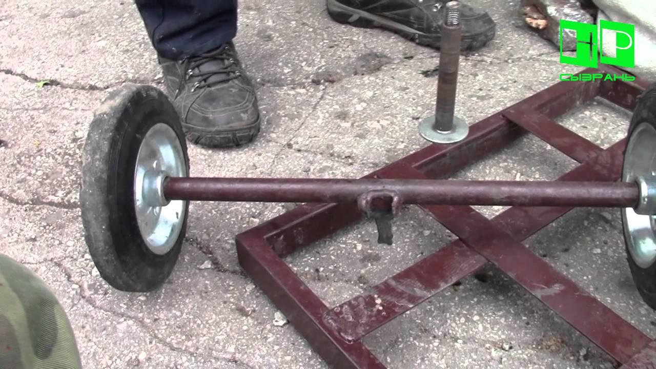 Кронштейн для колеса тележки своими руками