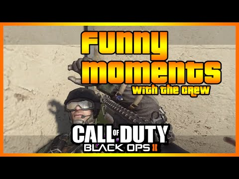 Black Ops 2 Funny Moments with The Crew (Camping, Clutching and More!)