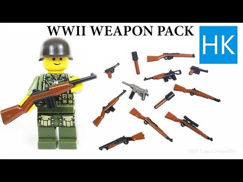 Lego WW2 Brickarms Unboxing Knockoffs - Weapons - Minifigure Toy Gun - American