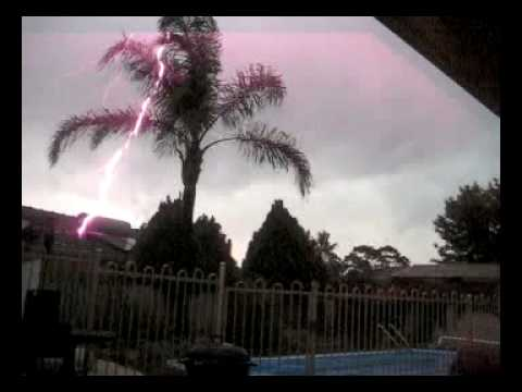 A huge storm front hit Perth Western Australia on 22nd march 2010. Bringing rail, hail, and winds up to 140km/h This video I took from my back garden/patio in the southern suburb of BullCreek...