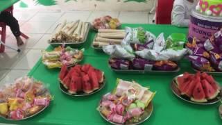 Tổ chức sinh nhật cho bé Hồng Nhung tại lớp b5 trường mầm non Kiện Khê