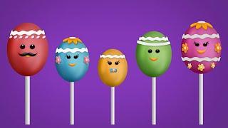 The Finger Family Easter Egg Cake Pops Family Nursery Rhyme | Easter Finger Family Songs