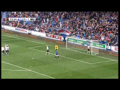 Ally McCoist 2nd Goal - Rangers Legends Vs Man Utd Legends - 6th May 2013