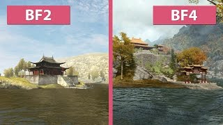 Battlefield 4 – Dragon Valley 2015 Remake vs. Original Battlefield 2 Graphics Comparison