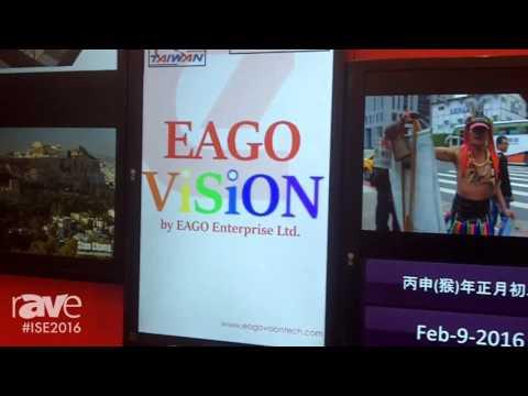 ISE 2016: EAGO Vision Showcases Irregular Video Wall Solution