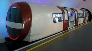 21st century vision of London train goes on show - offering 30% more space and air conditioning