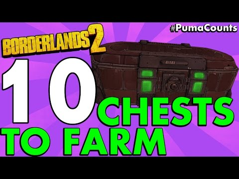 Top 10 Best Loot Chest Farming Locations in Borderlands 2 #PumaCounts