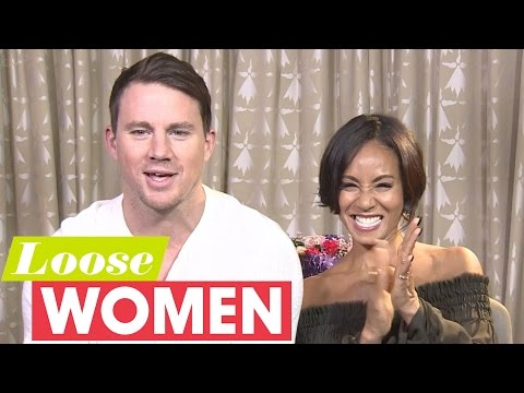 Channing Tatum And Jada Pinkett Smith Talk Stripper Moves | Loose Women