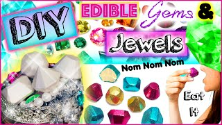 DIY Edible Jewels & Gems! Eat Diamonds For Dinner! Yummy!