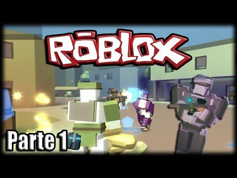 Jogando Roblox Polyguns - Robôs Ninjas com Armas! - Parte 1