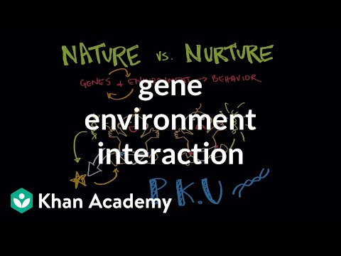 Gene environment interaction