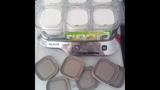 Yogur natural casero sin lactosa facil (Multidelices Tefal)