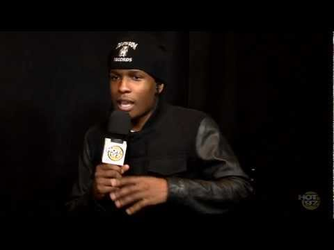 ASAP Rocky talks to Angie about grabbing on Rihanna, Fashion & More!