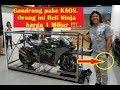 pihak Kawasaki Kaget Pria berKAos ini Beli Ninja H2 Carbon Cuma 1 di Indonesia harga 1 Miliar